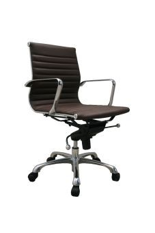 ✅ Comfy Low Back Brown Office Chair | VivaSalotti.com | pic2