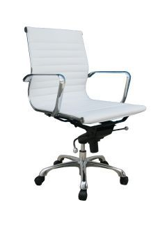 Comfy Low Back White Office Chair