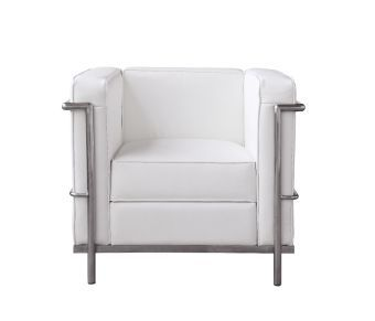 Cour Italian Leather Chair, White
