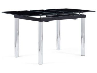D30DT Extendable Dining Table, Black Glass