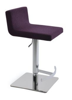 Dallas Camira Blazer Wool Piston Square Base Steel Stool
