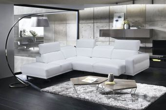 Davenport Snow White Sectional in Left Facing