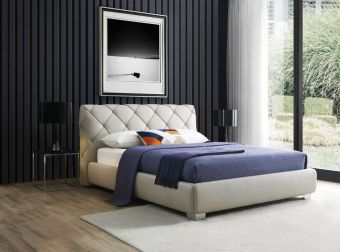 Dores Contemporary King Size Bed with Storage