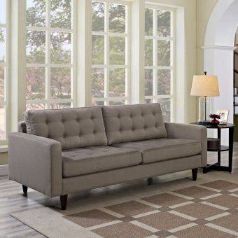 Empress Upholstered Fabric Sofa (Granite)