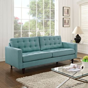 Empress Upholstered Fabric Sofa (Laguna)
