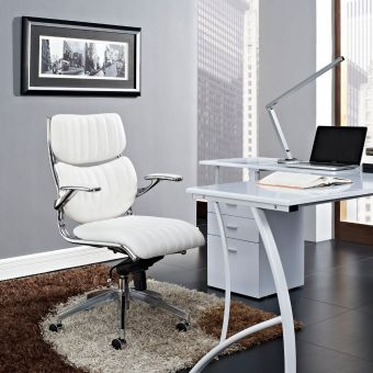Escape Mid Back Office Chair (White)