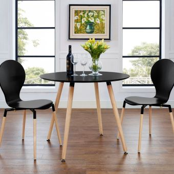 Track Round Dining Table (Black)