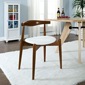 Stalwart Dining Side Chair (Dark Walnut White)