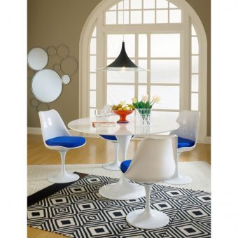 Lippa Dining Fabric Side Chair (Blue)