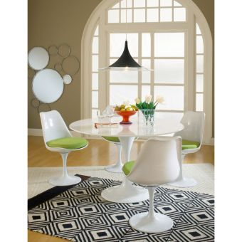 Lippa Dining Fabric Side Chair (Green)
