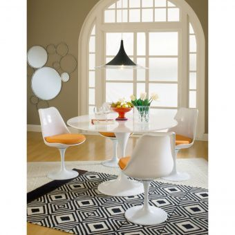 Lippa Dining Fabric Side Chair (Orange)