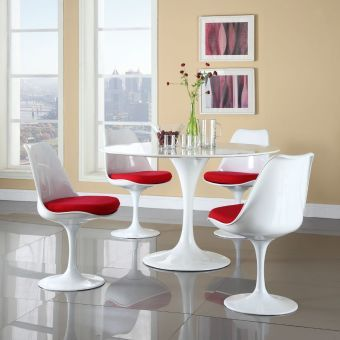 Lippa Dining Fabric Side Chair (Red)