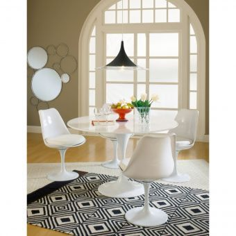 Lippa Dining Fabric Side Chair (White)
