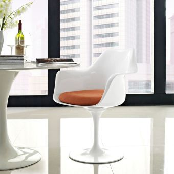 Lippa Dining Fabric Armchair (Orange)