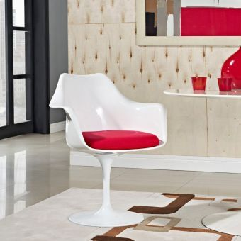 Lippa Dining Fabric Armchair (Red)