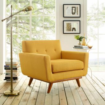 Engage Upholstered Fabric Armchair (Citrus)