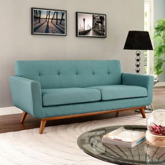 Engage Upholstered Fabric Loveseat (Laguna)