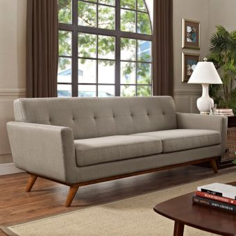 Engage Upholstered Fabric Sofa (Granite)