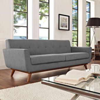 Engage Upholstered Fabric Sofa (Expectation Gray)