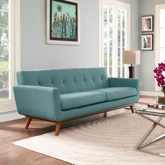 Engage Upholstered Fabric Sofa (Laguna)