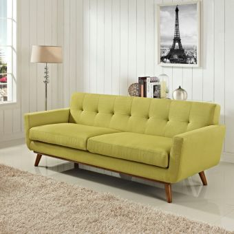 Engage Upholstered Fabric Sofa (Wheatgrass)