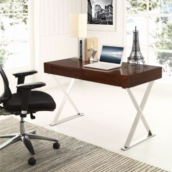 Sector Office Desk (Walnut)