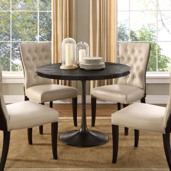 """Drive 40"""" Round Wood Top Dining Table (Black)"""