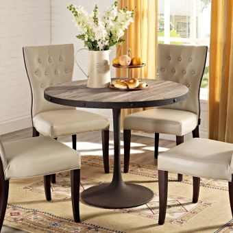 "Drive 40"" Round Wood Top Dining Table (Brown)"