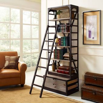 Velocity Wood Bookshelf (Brown)