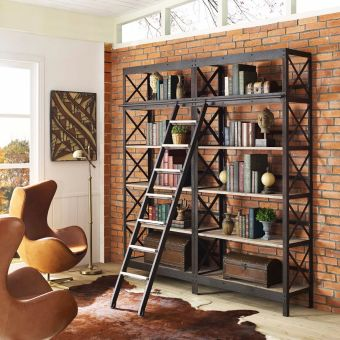 Headway Wood Bookshelf (Brown)
