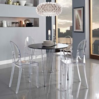 Casper Dining Side Chair (Clear)