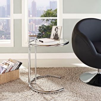 Eileen Gray Side Table (Silver)