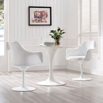 Lippa Dining Armchair Set of 2 (White)