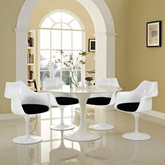 Lippa Dining Armchair Set of 4 (Black)