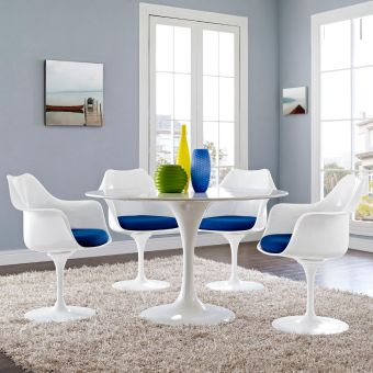Lippa Dining Armchair Set of 4 (Blue)