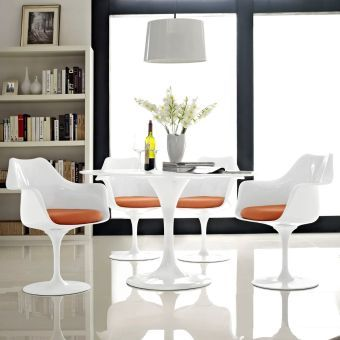 Lippa Dining Armchair Set of 4 (Orange)