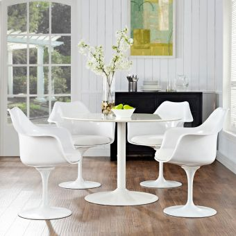 Lippa Dining Armchair Set of 4 (White)