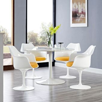 Lippa Dining Armchair Set of 4 (Yellow)