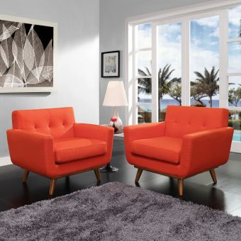 Engage Armchair Wood Set of 2 (Atomic Red)