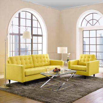 Empress Armchair and Sofa Set of 2 (Sunny)