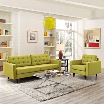 Empress Armchair and Sofa Set of 2 (Wheatgrass)