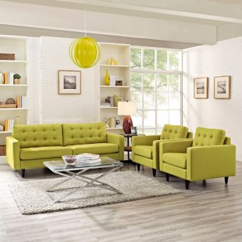 Empress Sofa and Armchairs Set of 3 (Wheatgrass)