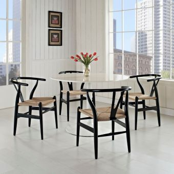 Amish Dining Armchair Set of 4 (Black)