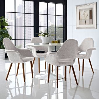 Aegis Dining Armchair Set of 4 (Light Gray)