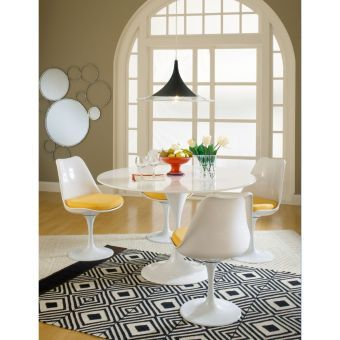 Lippa Dining Side Chair Fabric Set of 4 (Yellow)