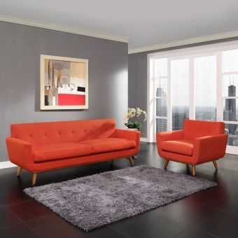 Engage Armchair and Sofa Set of 2 (Atomic Red)