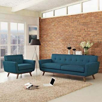 Engage Armchair and Sofa Set of 2 (Azure)