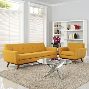 Engage Armchair and Sofa Set of 2 (Citrus)