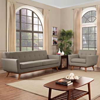 Engage Armchair and Sofa Set of 2 (Granite)