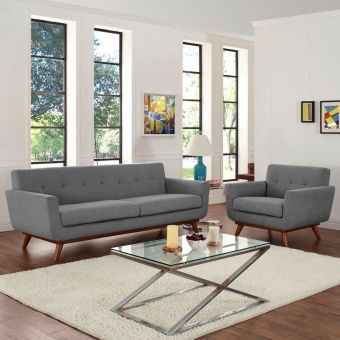 Engage Armchair and Sofa Set of 2 (Expectation Gray)